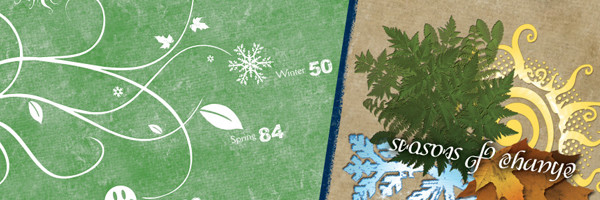 """Seasons of Change"" Yearbook Cover and Endsheets"