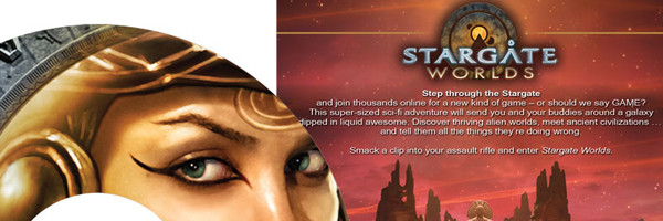 Stargate Worlds DVD label & insert
