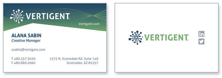 Vertigent logo business cards alana sabin earth911 inc created a new business division vertigent and i was asked to create the business identity vertigent is a data technology partner colourmoves